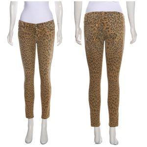 Current/Elliott Cheetah Leopard Stiletto Jeans 26